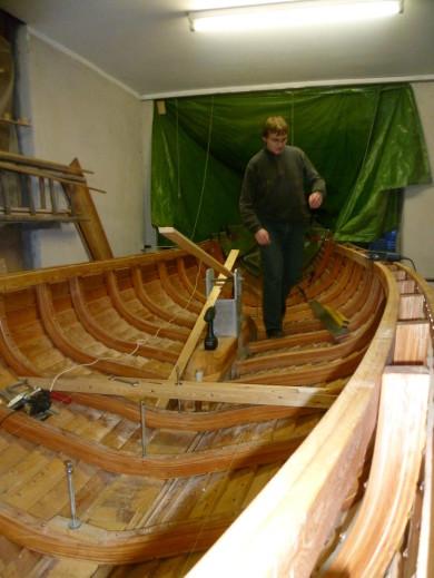 Wikingerbootsbau In Kappel 12 01 2013 Unterkonstruktion Boden