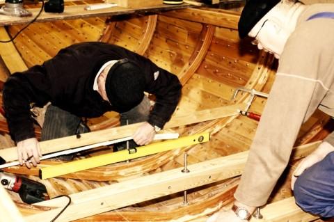 Wikingerbootsbau In Kappel 26 01 2013 Unterkonstruktion Boden