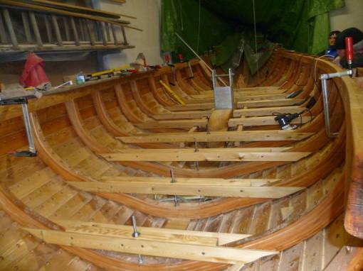 Wikingerbootsbau In Kappel 09 23 02 2013 Unterkonstruktion Boden